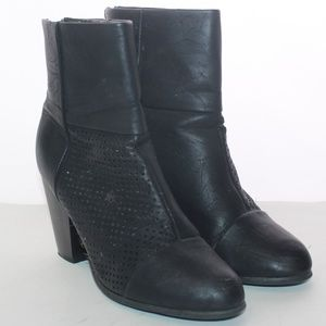 Unbranded Vegan Leather Slip On Ankle Boots 7.5